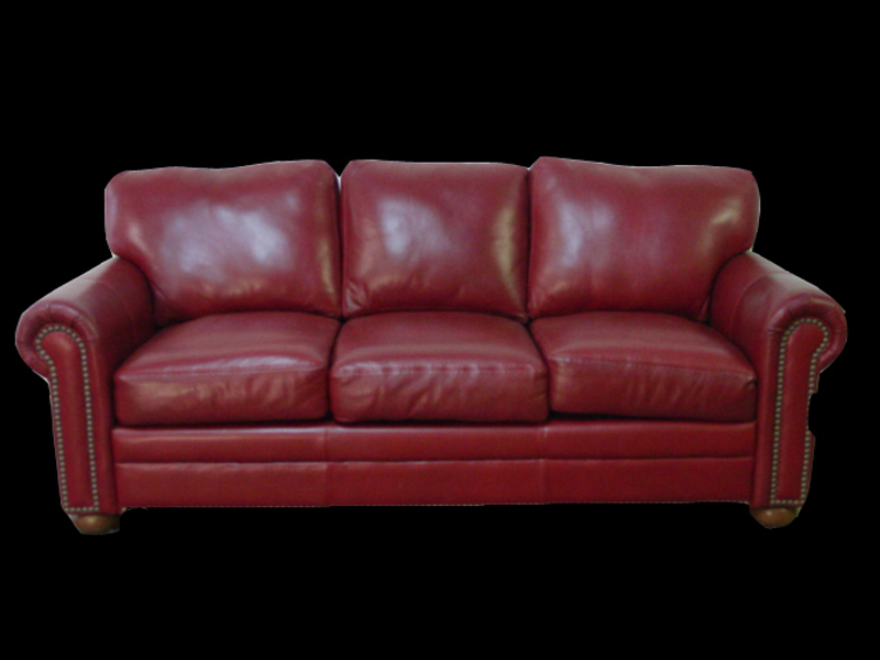 Red Leather Sofa Home Design 2017