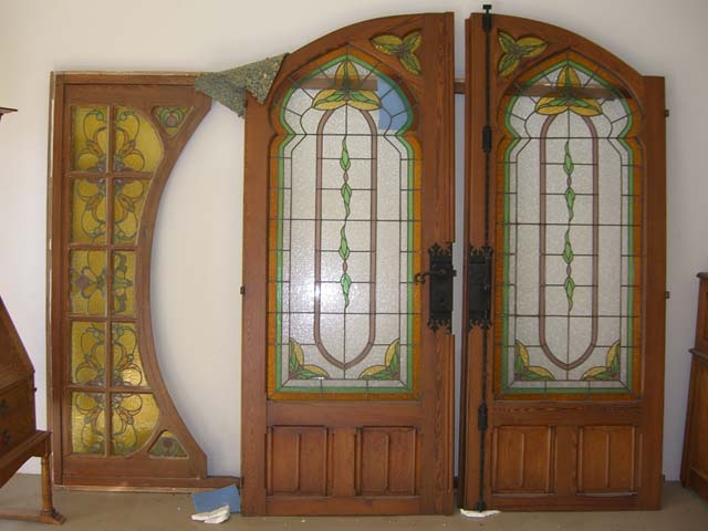 Glass doors arch stained glass doors arch planetlyrics Choice Image