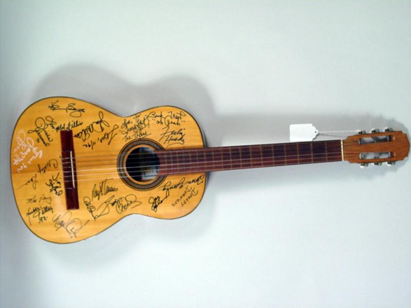 johnny cash june carter cash more signed guitar. Black Bedroom Furniture Sets. Home Design Ideas