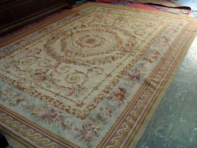Chinese Aubusson Wool Carpet 9x12 Handmade